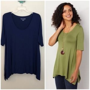 Soft Surroundings timely tunic top navy petite XL